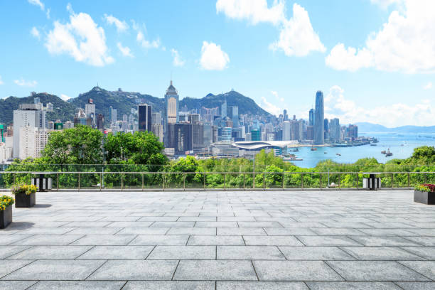 werbung-backplate, shanghai - dachgarten stock-fotos und bilder