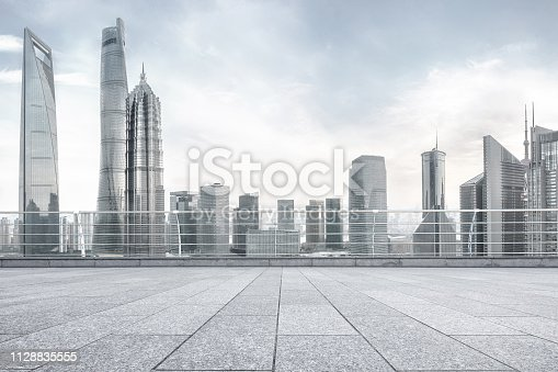 istock Advertising backplate, Shanghai 1128835555