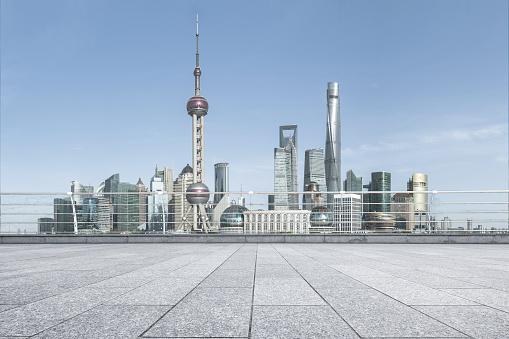 istock Advertising backplate, Shanghai 1128835556