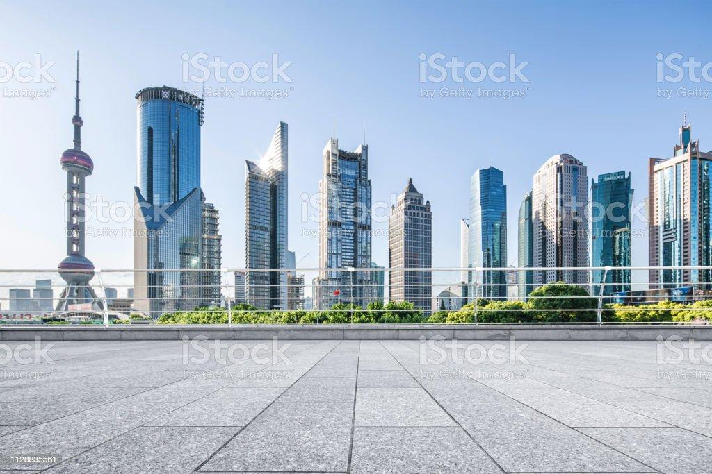 Advertising backplate, Shanghai stock photo