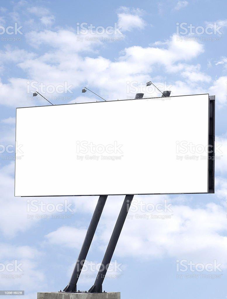 Advertising billboard frame background royalty-free stock photo