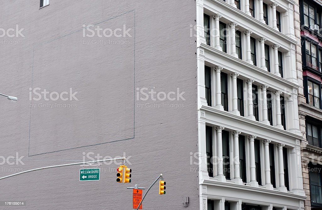 Advertising Billboard Mural Space in Soho, Manhattan NY stock photo