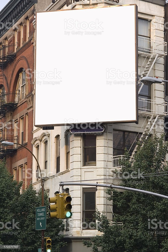 Advertising Billboard  Space in Manhattan New York royalty-free stock photo