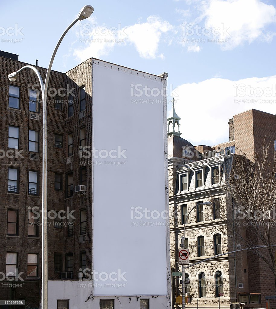 Advertising Billboard  Space in Manhattan New York stock photo