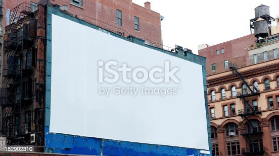 istock Advertising Billboard  Space in Manhattan New York 182902310