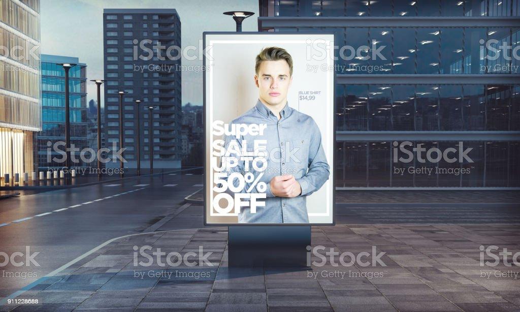 publicité anglo-saxon vente super mode dans la rue - Photo