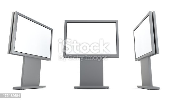 istock 3D advertising billboards isolated on a white background 175482684