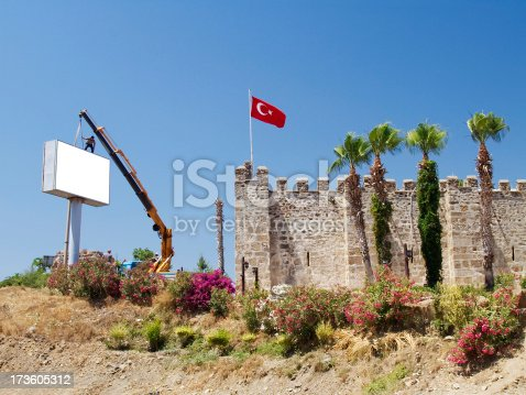 istock Advertising board 173605312