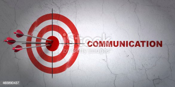 istock Advertising concept: target and Communication on wall background 465890437
