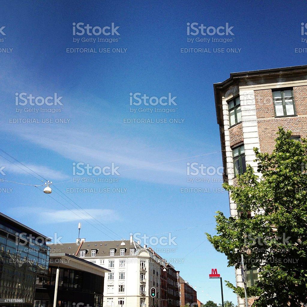 Advertising Copenhagen Metro Station royalty-free stock photo