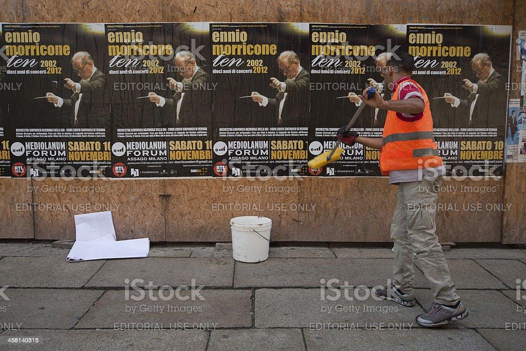 Реклама концерта Ennio Morricone (Эннио Морриконе) - Стоковые фото Горизонтальный роялти-фри