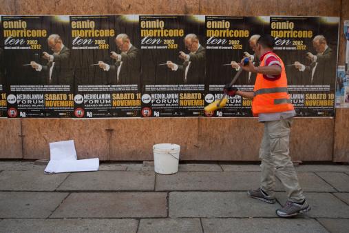 Реклама Концерта Ennio Morricone — стоковые фотографии и другие картинки Горизонтальный