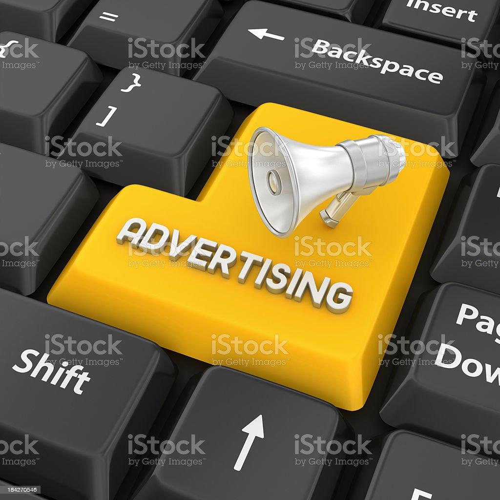 advertising enter key royalty-free stock photo