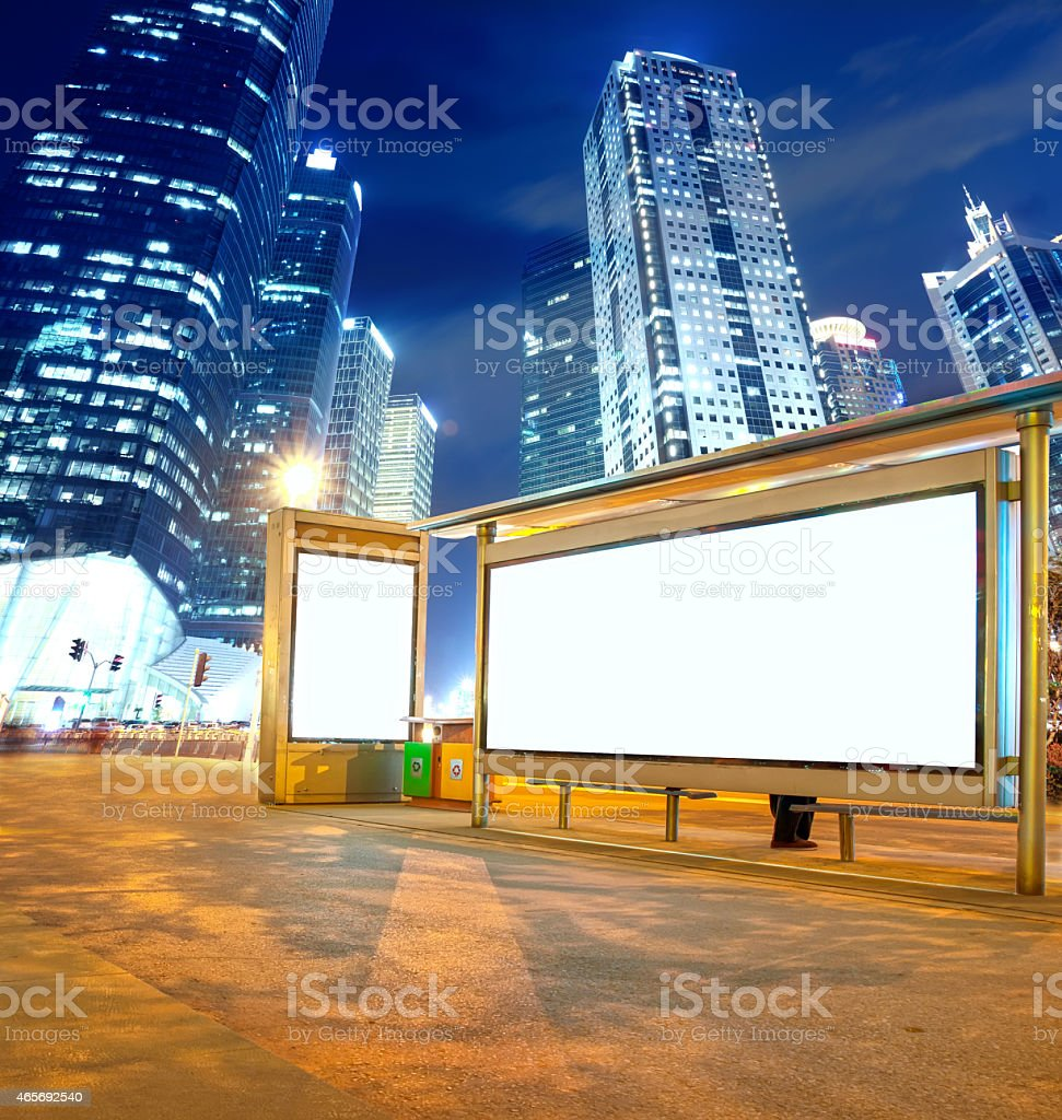 advertising light boxes,in shanghai,China stock photo