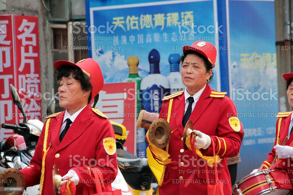 Advertising Marching Band, Jiangxi royalty-free stock photo