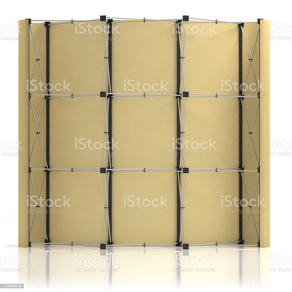 Advertising media Popup 3x3 in front-back view. royalty-free stock photo