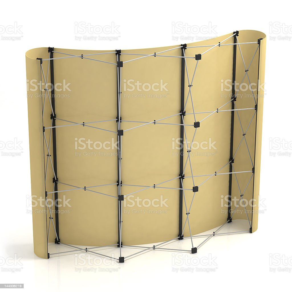 Advertising media Popup 3x3 in side-back view. royalty-free stock photo