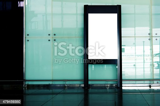istock Advertising mockup  for media in the lobby of the airport 479459350
