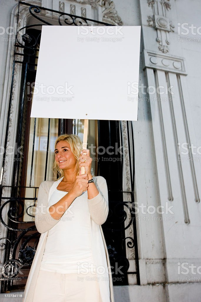 Advertising or Protest royalty-free stock photo