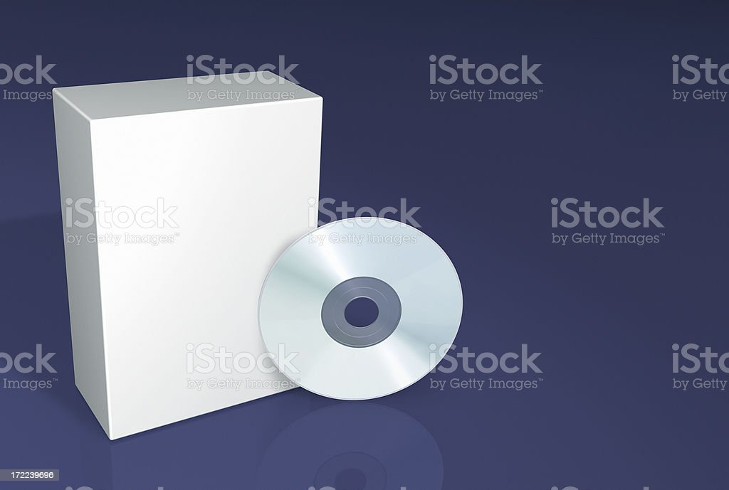 Advertising Pack CD/DVD/BlueRay/HD DVD royalty-free stock photo