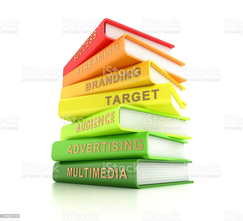 Advertising related books royalty-free stock photo