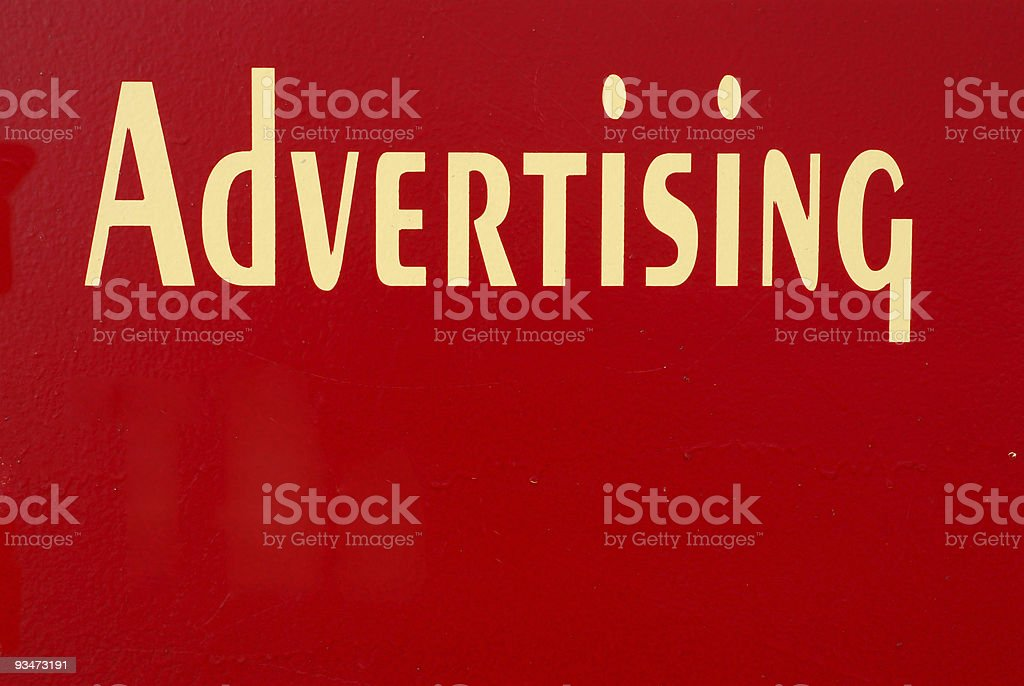 Advertising Sign royalty-free stock photo