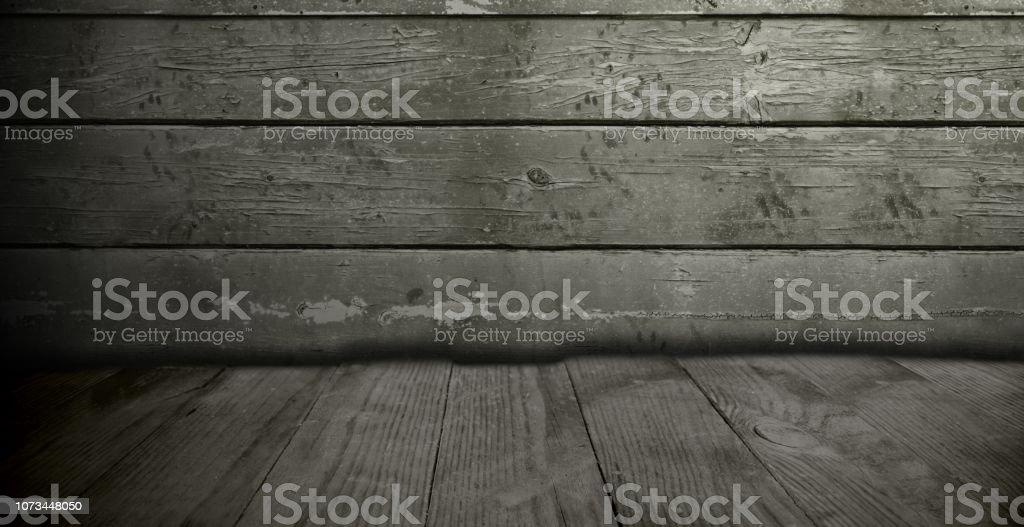 Advertising Space Background With Wooden Boards Stock Photo