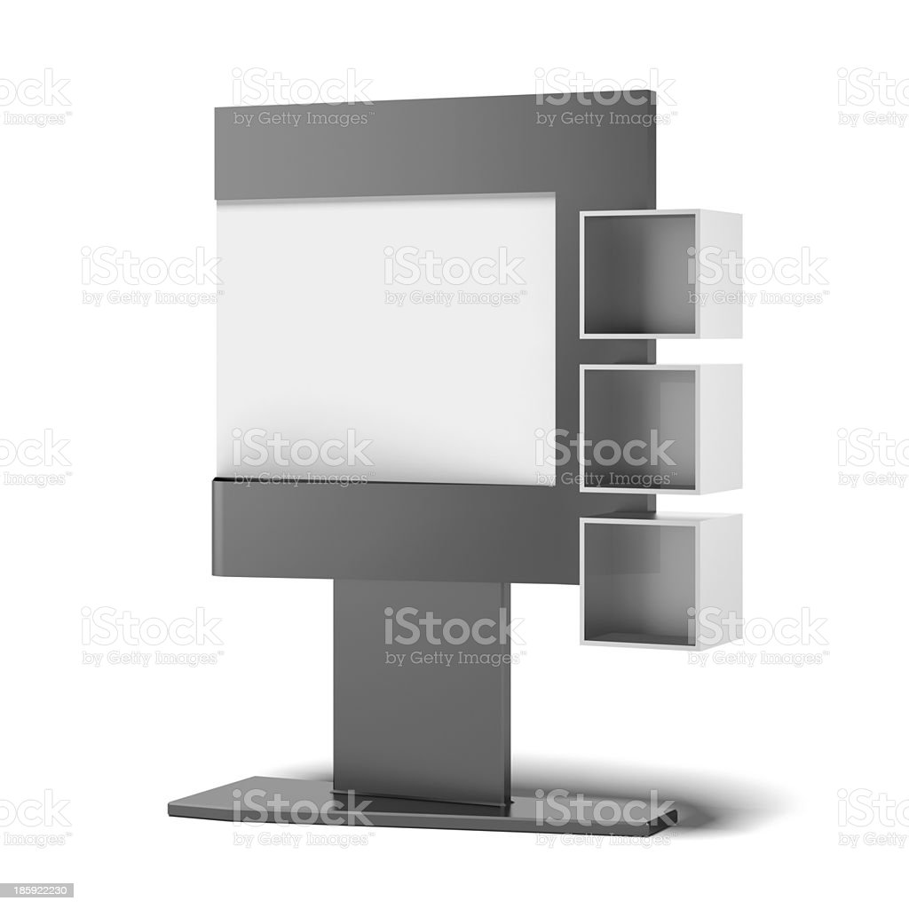 Advertising stand with sections royalty-free stock photo