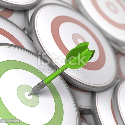 520244535 istock photo Advertising Target Audience 520244535