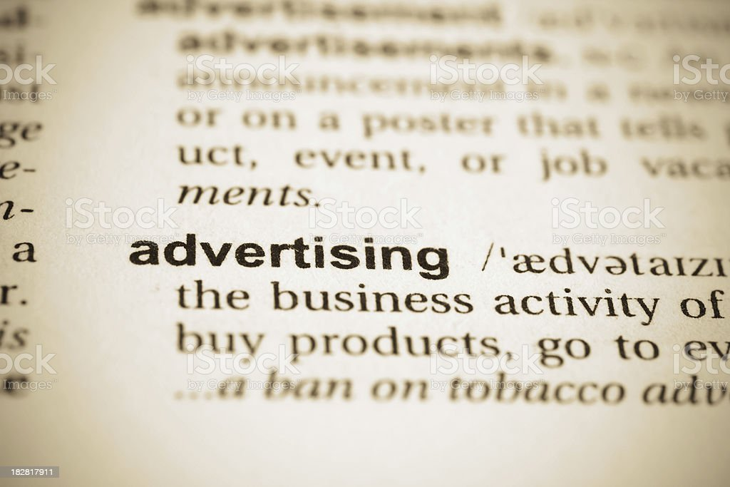 Advertising word royalty-free stock photo