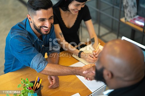istock Advice and financial review at business meeting 1132823844