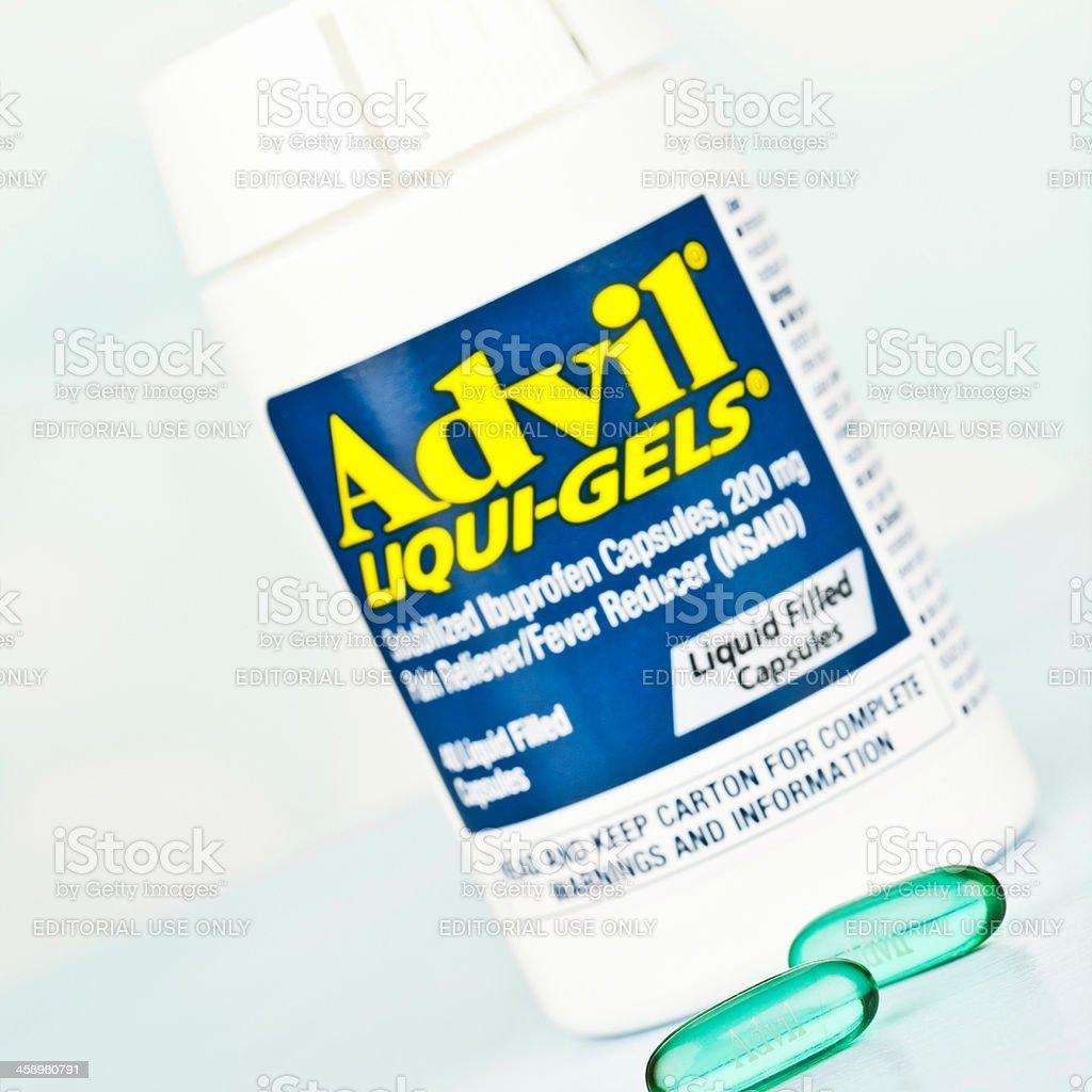 Advil Liqui-Gels royalty-free stock photo
