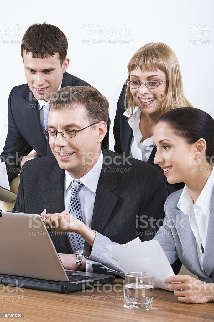 Advising royalty-free stock photo