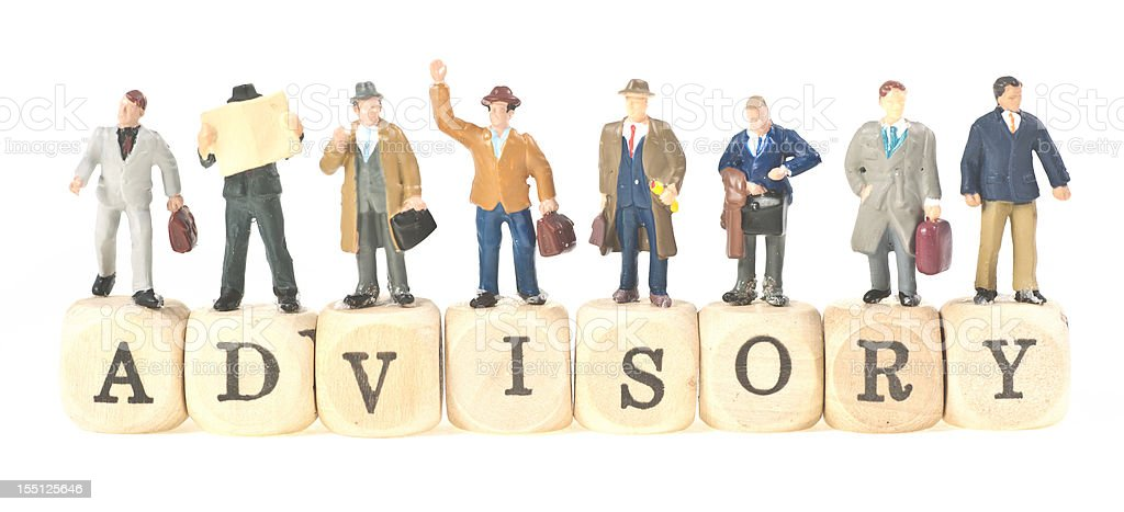 advisory abstract concept picture with little people stock photo