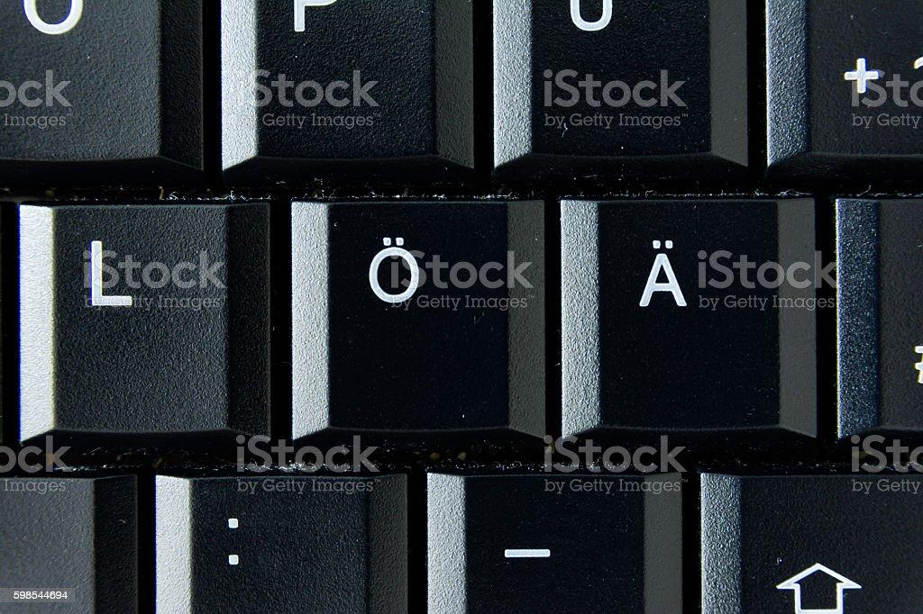 Ae German Keyboard Button White Black Macro Letters Numbers photo libre de droits
