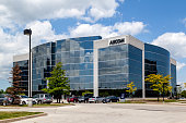 Richmond Hill, Ontario, Canada - June 08, 2018: Aecom Canada Ltd. building in Richmond Hill, an American engineering firm that provides design, consulting, construction, and management services.