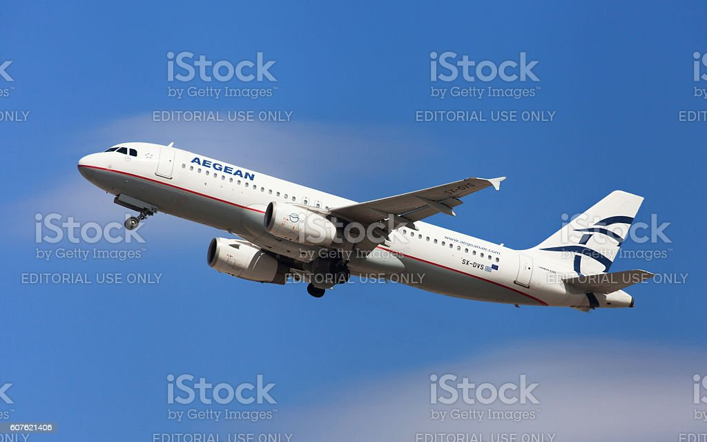 Aegean Airlines Airbus A320 stock photo