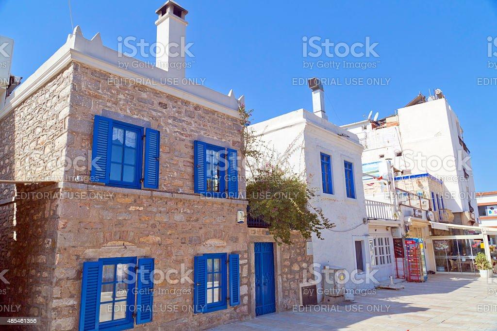 Aegean architecture, Bodrum, Turkey stock photo