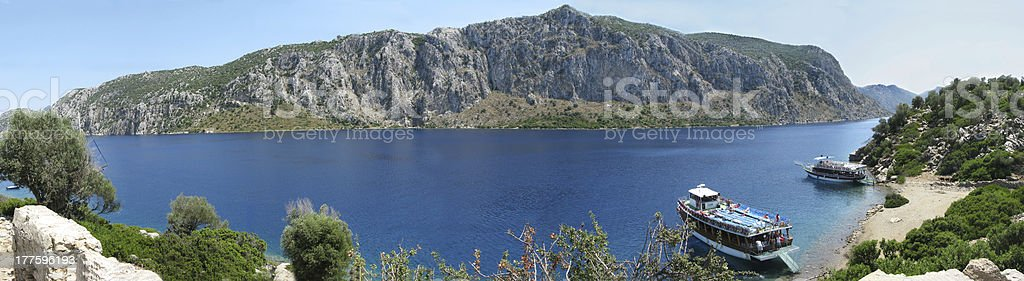 aegean sea panorama marmaris turkey royalty-free stock photo