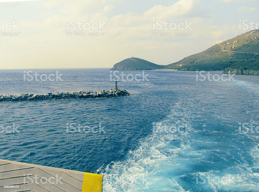 Aegean seascape stock photo