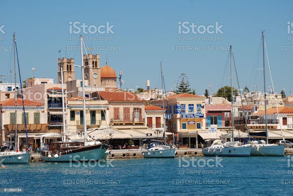 Aegina island, Greece stock photo