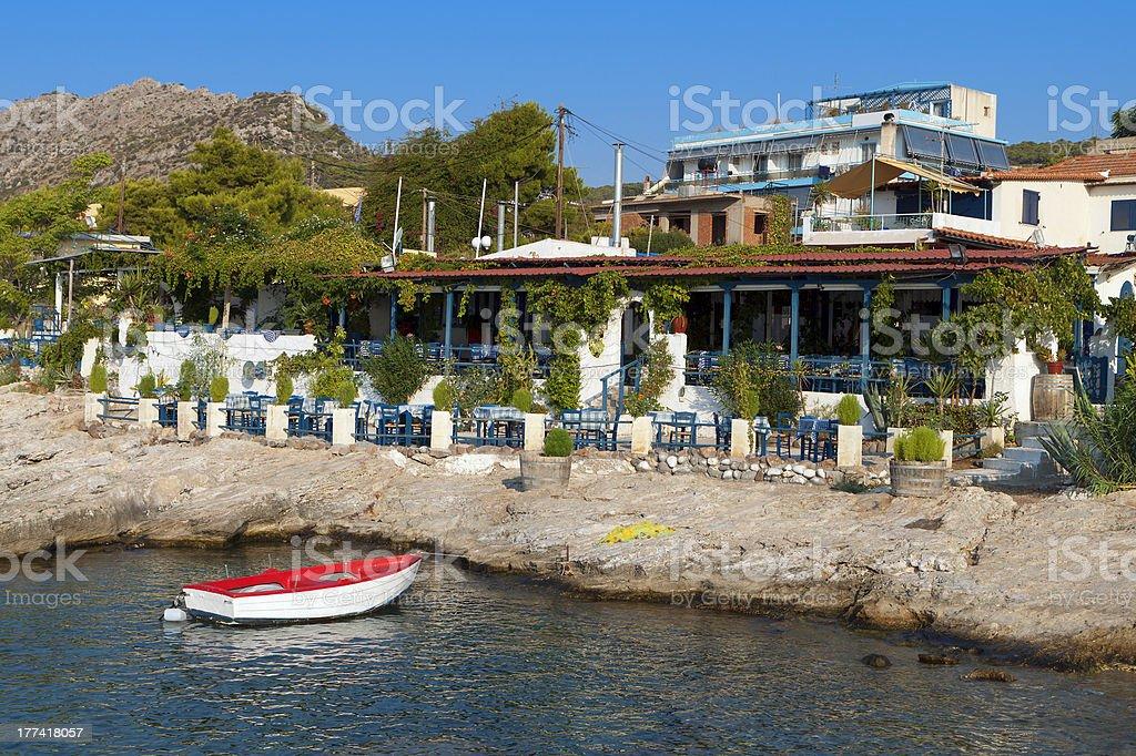 Aegina island in Greece stock photo