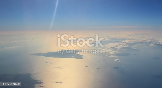 Flying over Aegina and Saronic Gulf