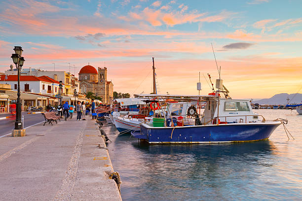 Aegina island. stock photo