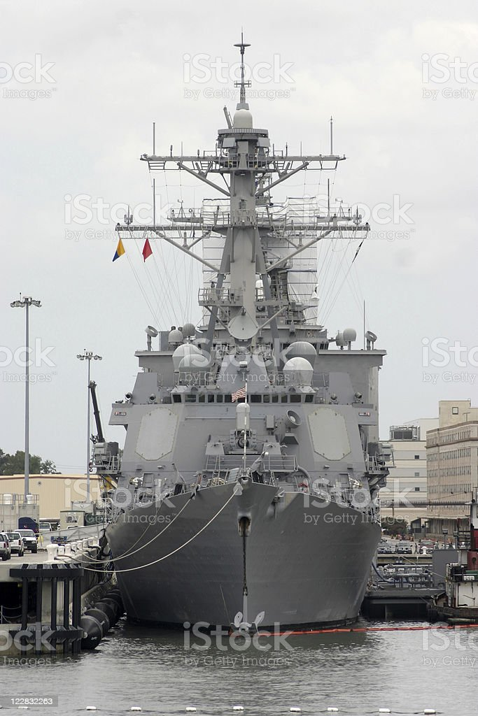Aegis Destroyer royalty-free stock photo