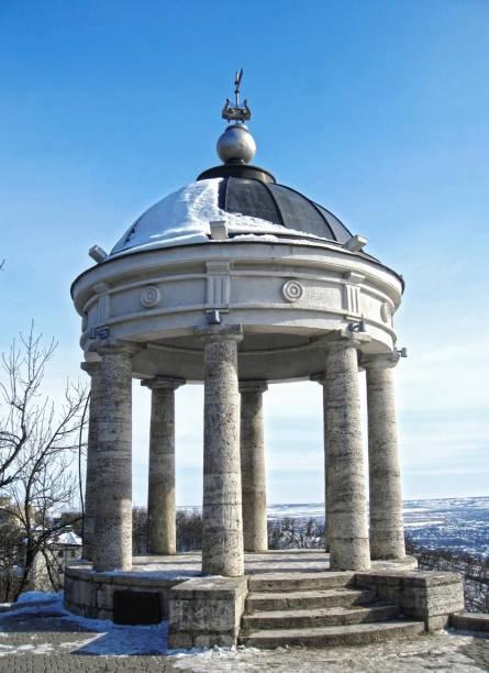Kışın Aeolus arp. Pyatigorsk simgeleri ve anıtlar Rusya Federasyonu stok fotoğrafı
