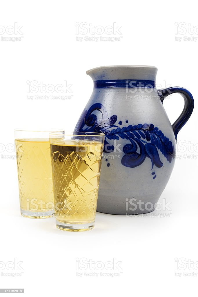 Aeppler - Apfelwein und Bembel, traditional hessian cider drink royalty-free stock photo