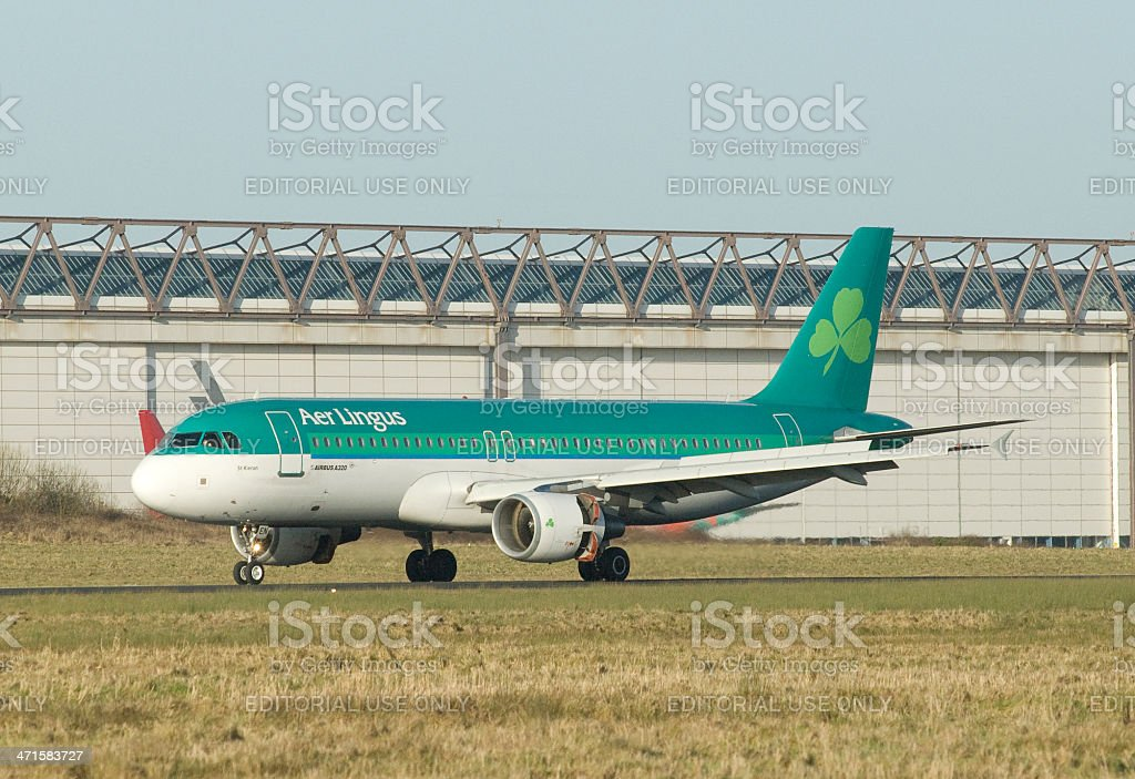 Aer Lingus Airbus A320 taking off stock photo