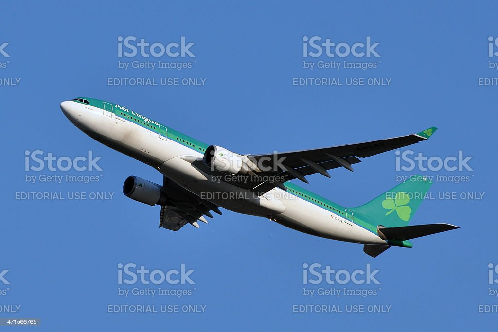 Aer Lingus Airbus A330 Taking Off stock photo