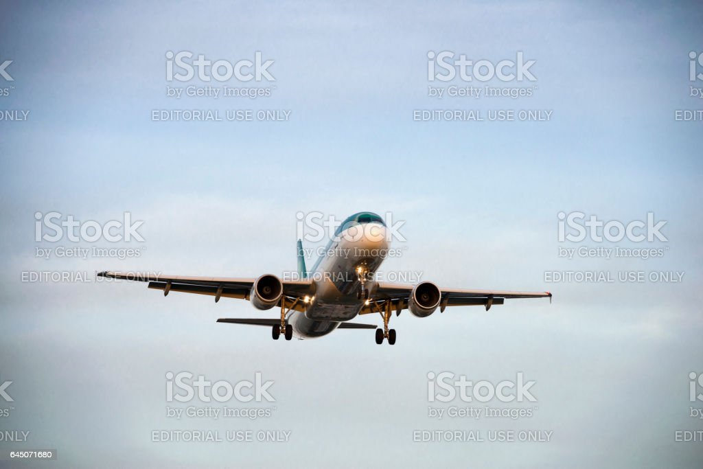 Aer Lingus Airplane stock photo